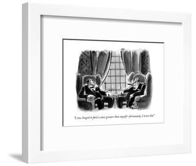 """I, too, longed to find a cause greater than myself?fortunately, I never d?-Lee Lorenz-Framed Premium Giclee Print"