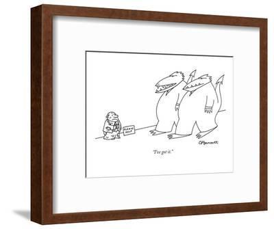 """""""I've got it."""" - New Yorker Cartoon-Charles Barsotti-Framed Premium Giclee Print"""