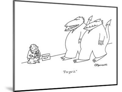 """I've got it."" - New Yorker Cartoon-Charles Barsotti-Mounted Premium Giclee Print"