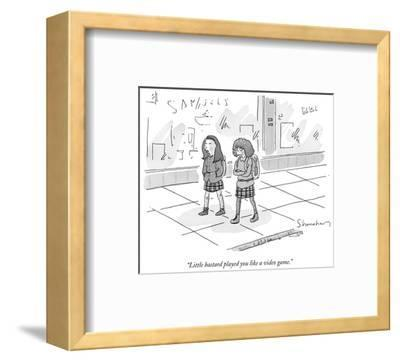 """Little bastard played you like a video game."" - New Yorker Cartoon-Danny Shanahan-Framed Premium Giclee Print"