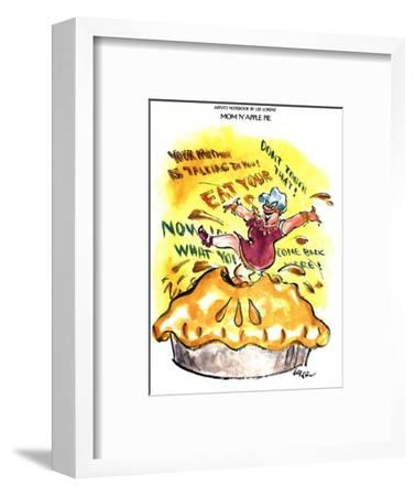 Mom 'n' Apple Pie - New Yorker Cartoon-Lee Lorenz-Framed Premium Giclee Print