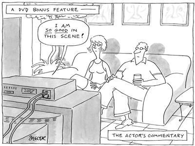 A DVD Bonus Feature-The Actors Commentary - New Yorker Cartoon-Jack Ziegler-Framed Premium Giclee Print