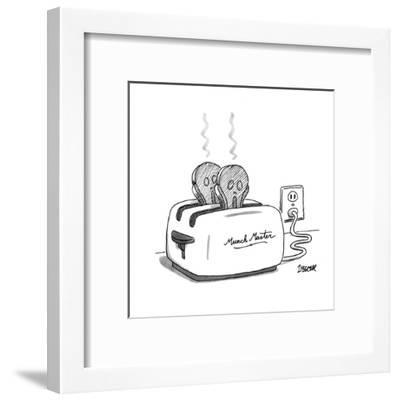 Toaster labeled 'Munch Master' has two pieces of burnt toast popping up. T? - New Yorker Cartoon-Jack Ziegler-Framed Premium Giclee Print