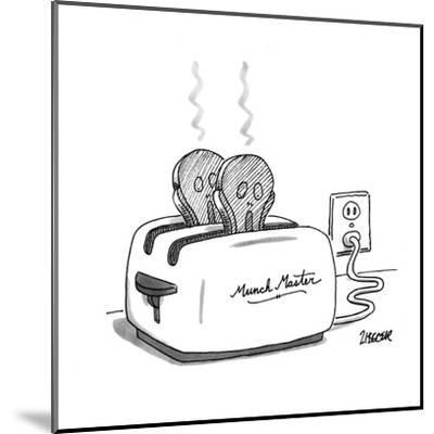 Toaster labeled 'Munch Master' has two pieces of burnt toast popping up. T? - New Yorker Cartoon-Jack Ziegler-Mounted Premium Giclee Print