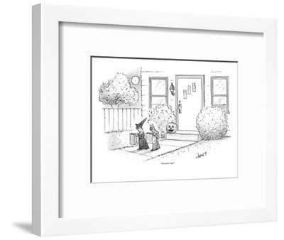 """One potato chip?"" - New Yorker Cartoon-Tom Cheney-Framed Premium Giclee Print"
