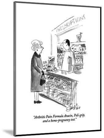 """Arthritis Pain Formula Anacin, Poli-grip, and a home-pregnancy test."" - New Yorker Cartoon-Edward Frascino-Mounted Premium Giclee Print"