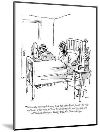"""""""Nadine, the motorcycle is very loud, but, after Bertie finishes his ride ?"""" - New Yorker Cartoon-George Booth-Mounted Premium Giclee Print"""