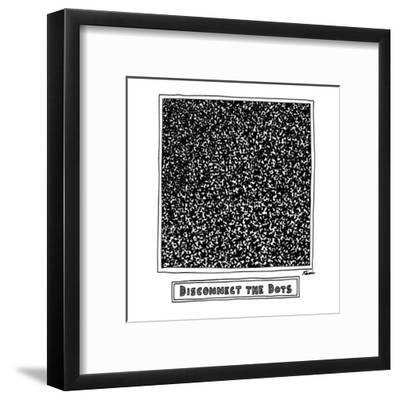 Disconnect the Dots - New Yorker Cartoon-J.P. Rini-Framed Premium Giclee Print
