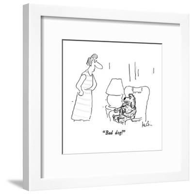 """Bad dog!"" - New Yorker Cartoon-Arnie Levin-Framed Premium Giclee Print"