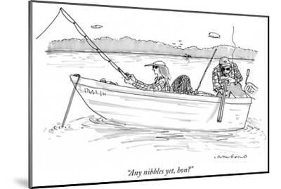 """Any nibbles yet, hon?"" - New Yorker Cartoon-Michael Crawford-Mounted Premium Giclee Print"