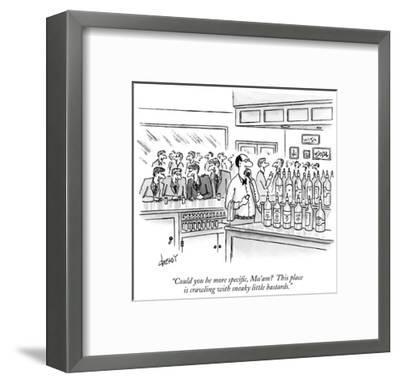 """""""Could you be more specific, Ma'am?  This place is crawling with sneaky li…"""" - New Yorker Cartoon-Tom Cheney-Framed Premium Giclee Print"""