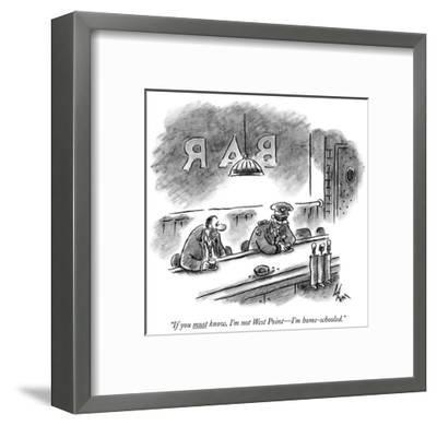 """""""If you must know, I'm not West Point—I'm home-schooled."""" - New Yorker Cartoon-Frank Cotham-Framed Premium Giclee Print"""