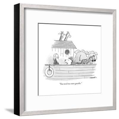 """You need two more gazelles."" - New Yorker Cartoon-Pat Byrnes-Framed Premium Giclee Print"
