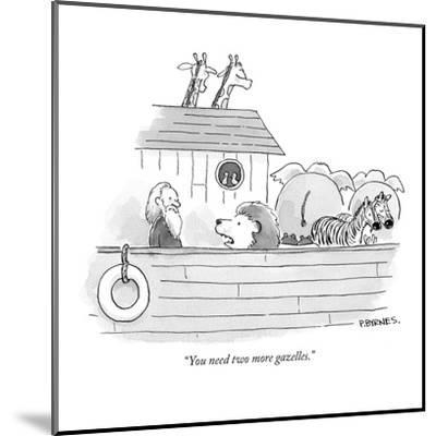 """You need two more gazelles."" - New Yorker Cartoon-Pat Byrnes-Mounted Premium Giclee Print"