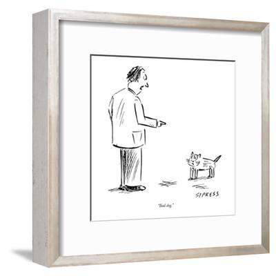 """Bad dog."" - New Yorker Cartoon-David Sipress-Framed Premium Giclee Print"