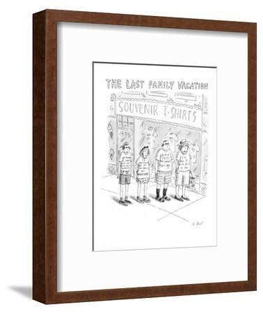 The Last Family Vacation - New Yorker Cartoon-Roz Chast-Framed Premium Giclee Print