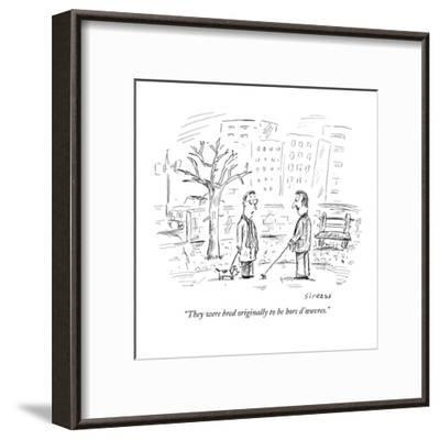 """They were bred originally to be hors d'?uvres."" - New Yorker Cartoon-David Sipress-Framed Premium Giclee Print"