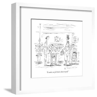 """""""It makes me feel better about myself."""" - New Yorker Cartoon-Barbara Smaller-Framed Premium Giclee Print"""