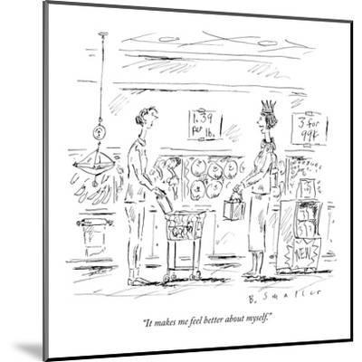 """""""It makes me feel better about myself."""" - New Yorker Cartoon-Barbara Smaller-Mounted Premium Giclee Print"""