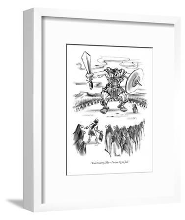 """Don't worry, Ma?I'm too big to fail."" - New Yorker Cartoon-Lee Lorenz-Framed Premium Giclee Print"