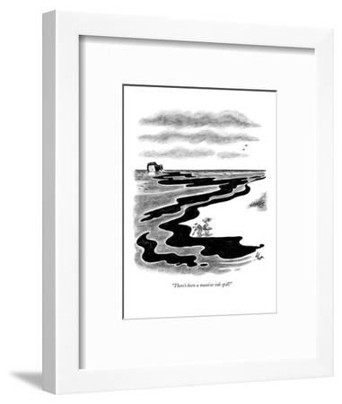 """""""There's been a massive ink spill!"""" - New Yorker Cartoon-Frank Cotham-Framed Premium Giclee Print"""