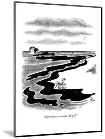 """""""There's been a massive ink spill!"""" - New Yorker Cartoon-Frank Cotham-Mounted Premium Giclee Print"""