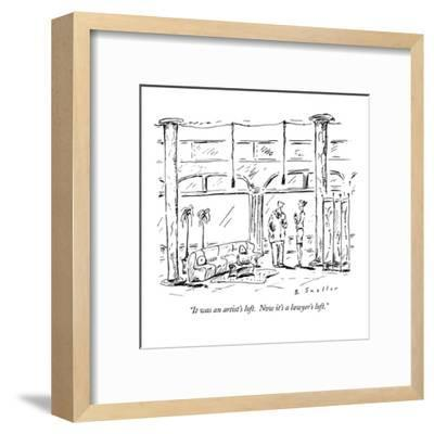 """It was an artist's loft.  Now it's a lawyer's loft."" - New Yorker Cartoon-Barbara Smaller-Framed Premium Giclee Print"