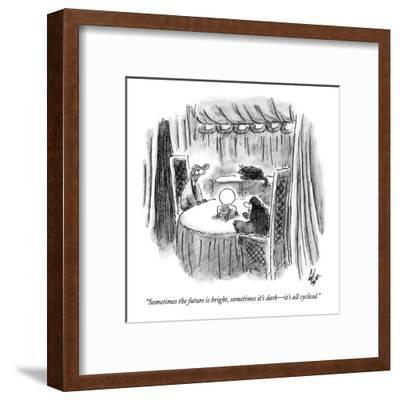 """""""Sometimes the future is bright, sometimes it's dark?it's all cyclical."""" - New Yorker Cartoon-Frank Cotham-Framed Premium Giclee Print"""
