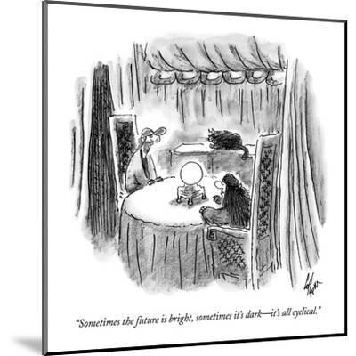 """""""Sometimes the future is bright, sometimes it's dark?it's all cyclical."""" - New Yorker Cartoon-Frank Cotham-Mounted Premium Giclee Print"""
