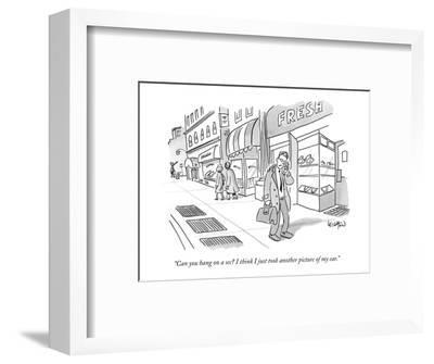 """Can you hang on a sec? I think I just took another picture of my ear."" - New Yorker Cartoon-Robert Leighton-Framed Premium Giclee Print"