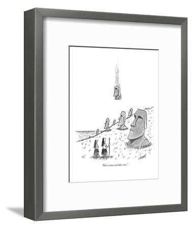 """""""Here comes another one."""" - New Yorker Cartoon-Tom Cheney-Framed Premium Giclee Print"""
