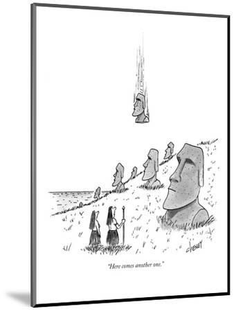 """""""Here comes another one."""" - New Yorker Cartoon-Tom Cheney-Mounted Premium Giclee Print"""