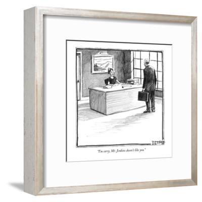 """I'm sorry, Mr. Jenkins doesn't like you."" - New Yorker Cartoon-Matthew Diffee-Framed Premium Giclee Print"