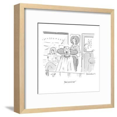 """""""Just even it out."""" - New Yorker Cartoon-Danny Shanahan-Framed Premium Giclee Print"""