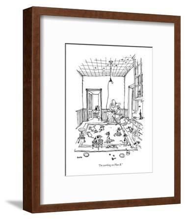 """I'm working on Plan B."" - New Yorker Cartoon-George Booth-Framed Premium Giclee Print"
