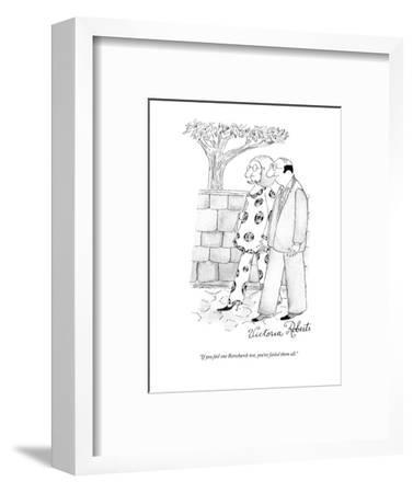 """If you fail one Rorscharch test, you've failed them all."" - New Yorker Cartoon-Victoria Roberts-Framed Premium Giclee Print"