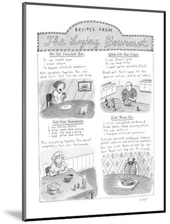 Receipes From The Lying Gourmet - New Yorker Cartoon-Roz Chast-Mounted Premium Giclee Print