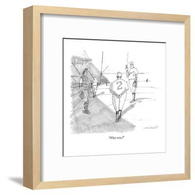 """""""What now?"""" - New Yorker Cartoon-Michael Crawford-Framed Premium Giclee Print"""