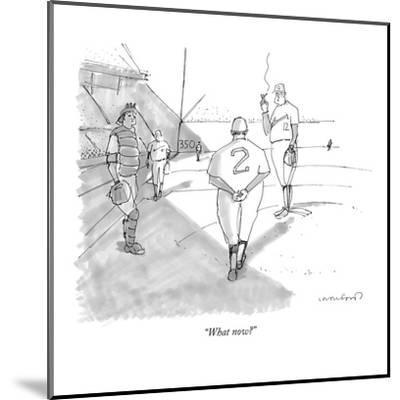 """""""What now?"""" - New Yorker Cartoon-Michael Crawford-Mounted Premium Giclee Print"""