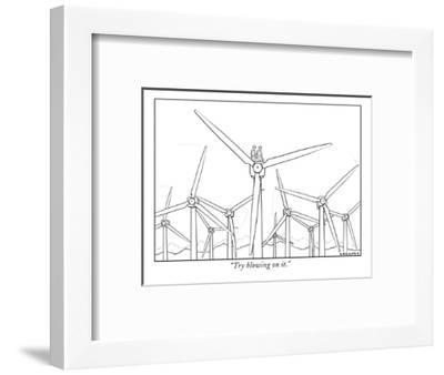 """""""Try blowing on it."""" - New Yorker Cartoon-Alex Gregory-Framed Premium Giclee Print"""