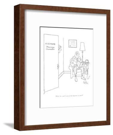 """What's the word I want for that disposition of yours?"" - New Yorker Cartoon-George Price-Framed Premium Giclee Print"