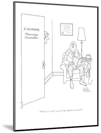 """What's the word I want for that disposition of yours?"" - New Yorker Cartoon-George Price-Mounted Premium Giclee Print"