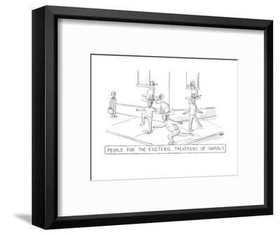 esoteric treatment - New Yorker Cartoon-Michael Rae-Grant-Framed Premium Giclee Print