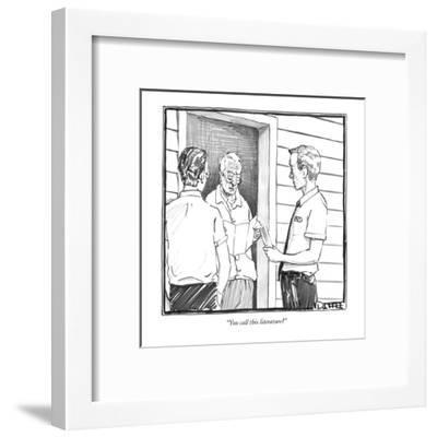 """You call this literature?"" - New Yorker Cartoon-Matthew Diffee-Framed Premium Giclee Print"