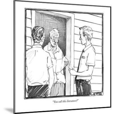 """You call this literature?"" - New Yorker Cartoon-Matthew Diffee-Mounted Premium Giclee Print"