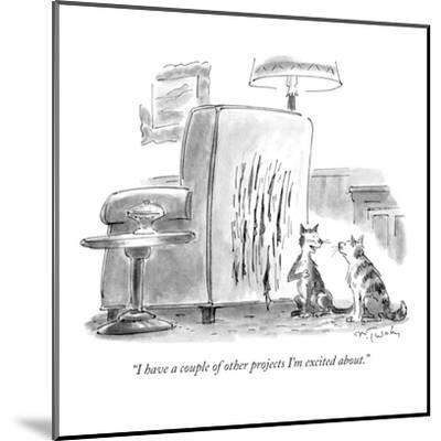"""""""I have a couple of other projects I'm excited about."""" - New Yorker Cartoon-Mike Twohy-Mounted Premium Giclee Print"""