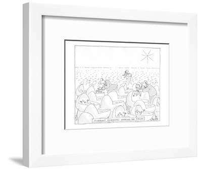 Itinerant Candidates working the Fields - Cartoon-Jack Ziegler-Framed Premium Giclee Print