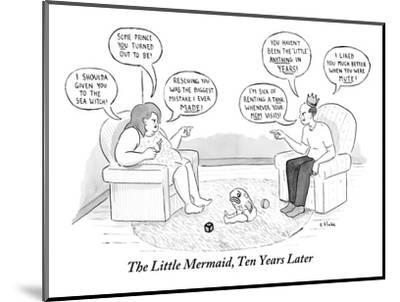 The Little Mermaid, Ten Years Later - New Yorker Cartoon-Emily Flake-Mounted Premium Giclee Print