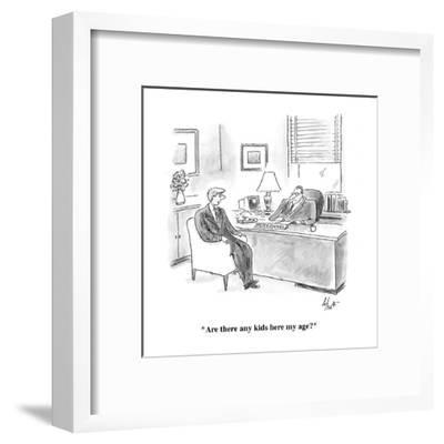 """""""Are there any kids here my age?"""" - Cartoon-Frank Cotham-Framed Premium Giclee Print"""