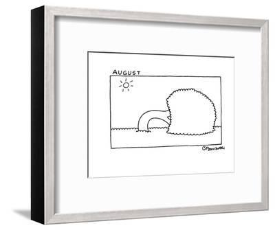 August - New Yorker Cartoon-Charles Barsotti-Framed Premium Giclee Print